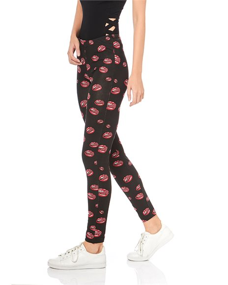 Leggings with pattern | Pink Woman