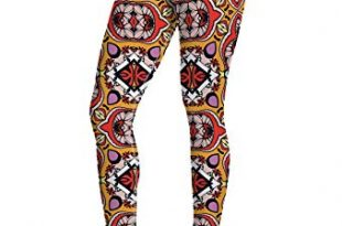 Gorgeous Palace Pattern Leggings with Pocket for Women Yoga High