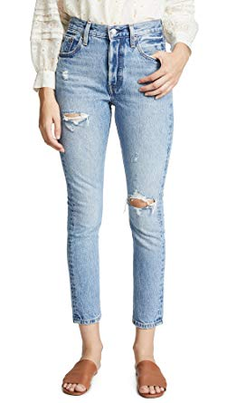 Levi's 501 Stretch Skinny Jeans Black Heart at Amazon Women's Jeans