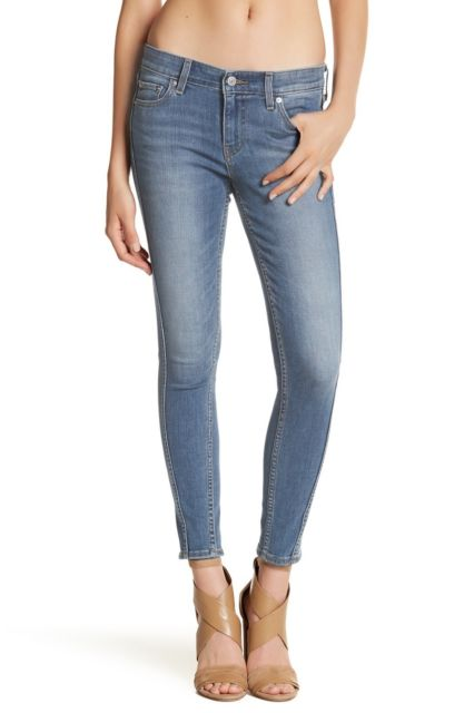 Levis 710 Super SKINNY Mid Rise Slim Through Hip & Thigh Stretch