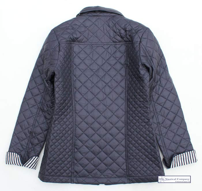 Women's Navy Blue Quilted Jacket, Lightweight - THE NAUTICAL COMPANY UK