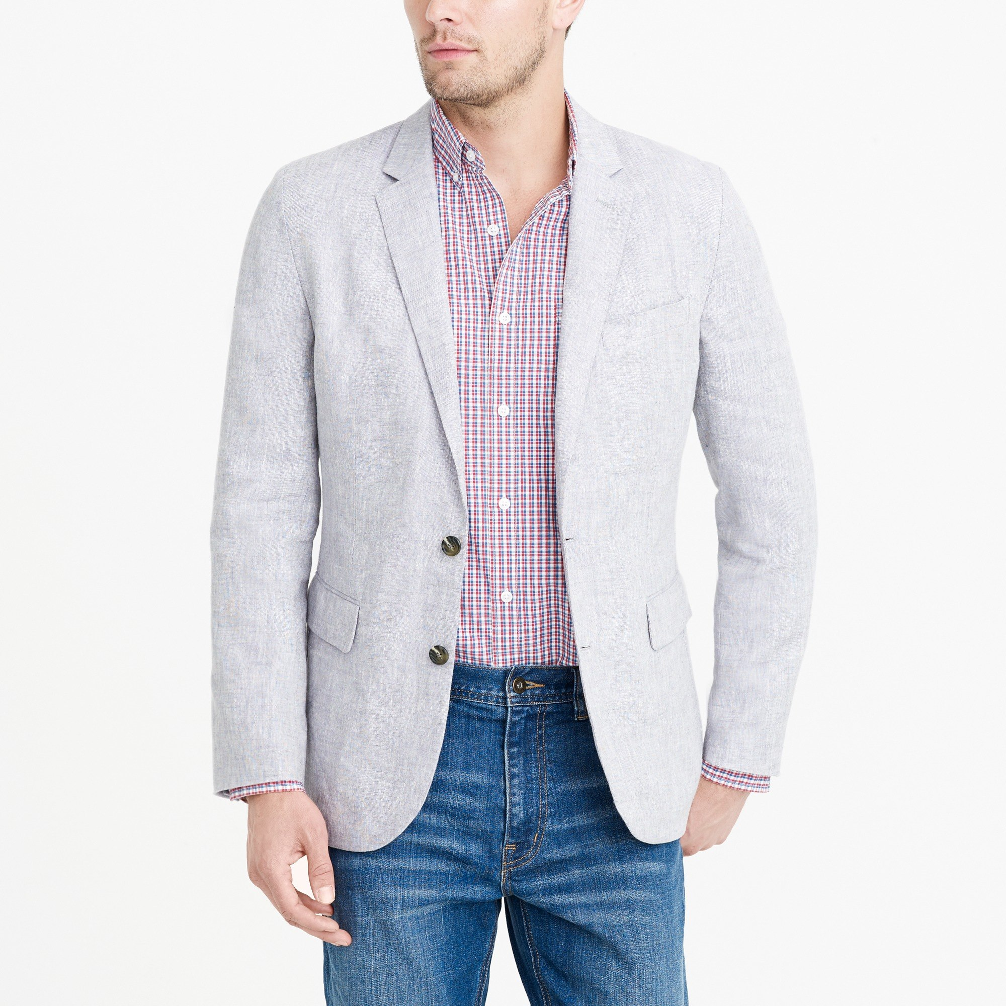Thompson unstructured linen blazer : FactoryMen Dress-up Shop | Factory