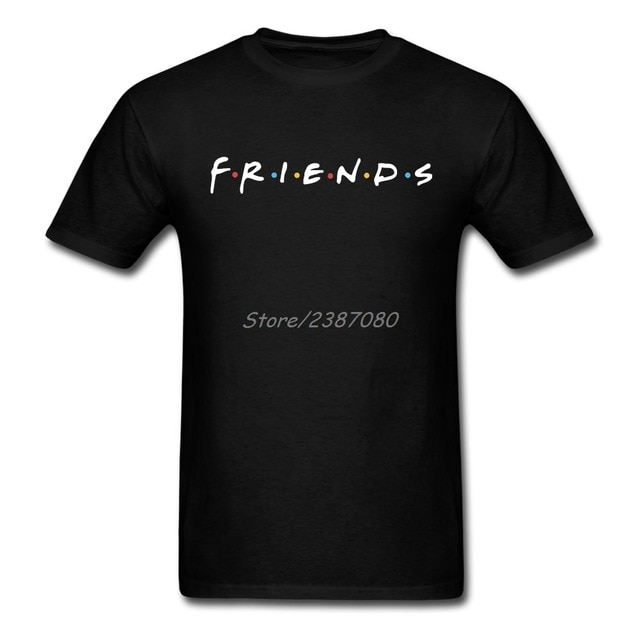 Friends Logo T Shirt Custom Short Sleeve Tshirt Men Top Boyfriend
