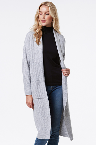 Long Cardigan With Pocket - Sweaters & Cardigans - Sales   TRISTAN