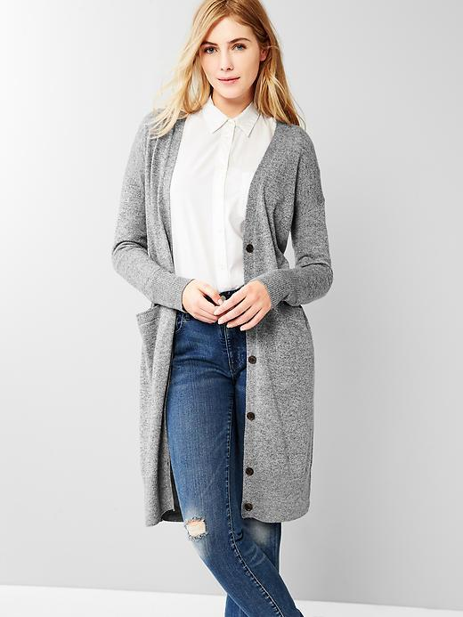 Gap Long Cardigan, $69 | Gap | Lookastic.com