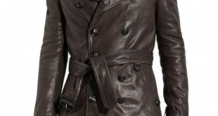 Long Leather Coat For Men | Buy 100% Genuine Mens Leather Coat