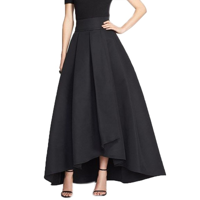 2016 England High Low Long Skirts For Women Navy Blue Old Green