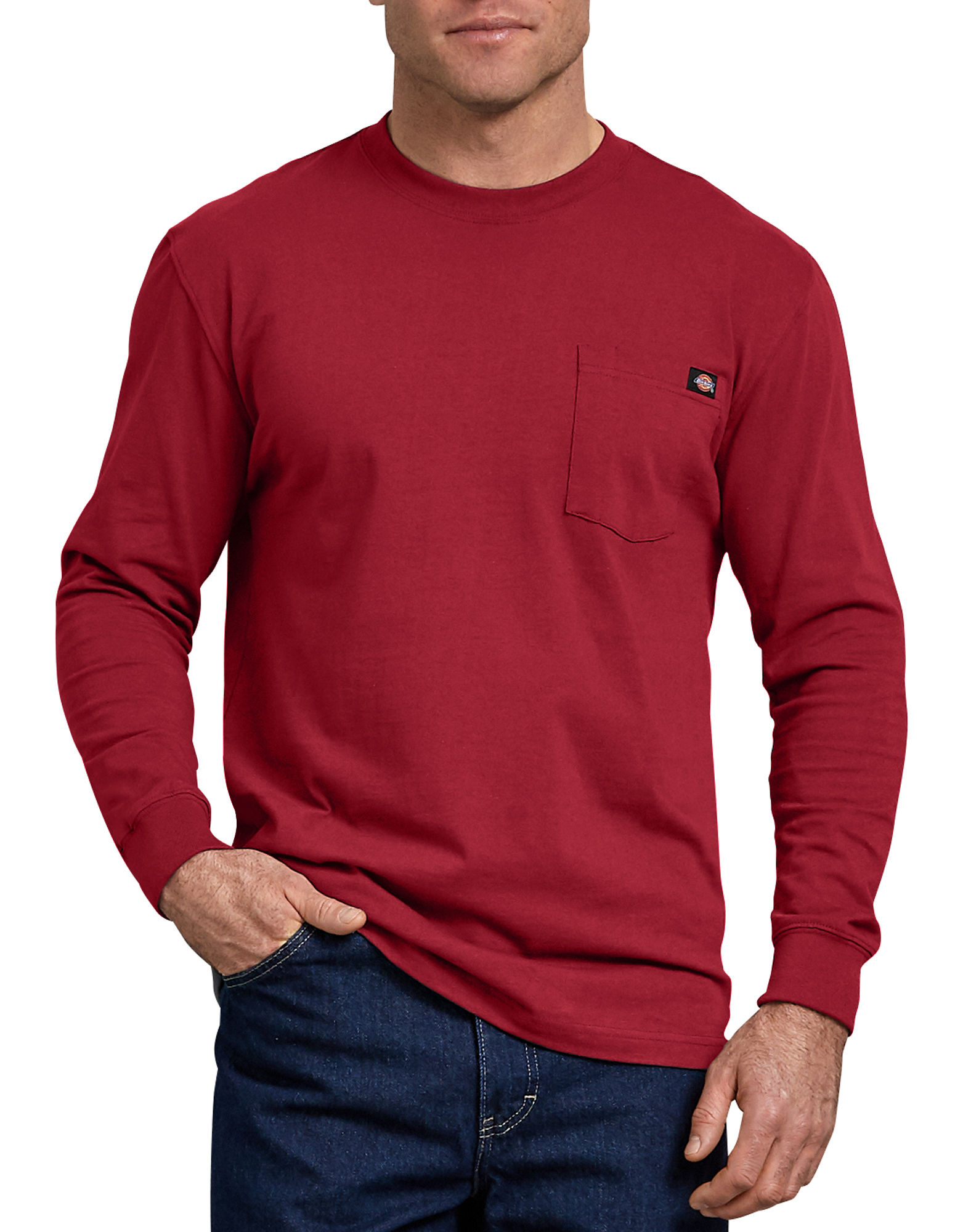 Long Sleeve T Shirt for Men English Red XL| Dickies