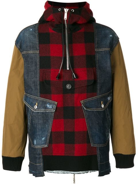 Dsquared2 lumberjack shirt panel jacket $1,150 - Buy Online AW17