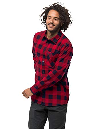 Amazon.com: Jack Wolfskin Men's Red River Shirt Performance Plaid