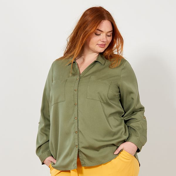 Flowing Lyocell shirt Women plus sizes - Kiabi - 20,00EUR