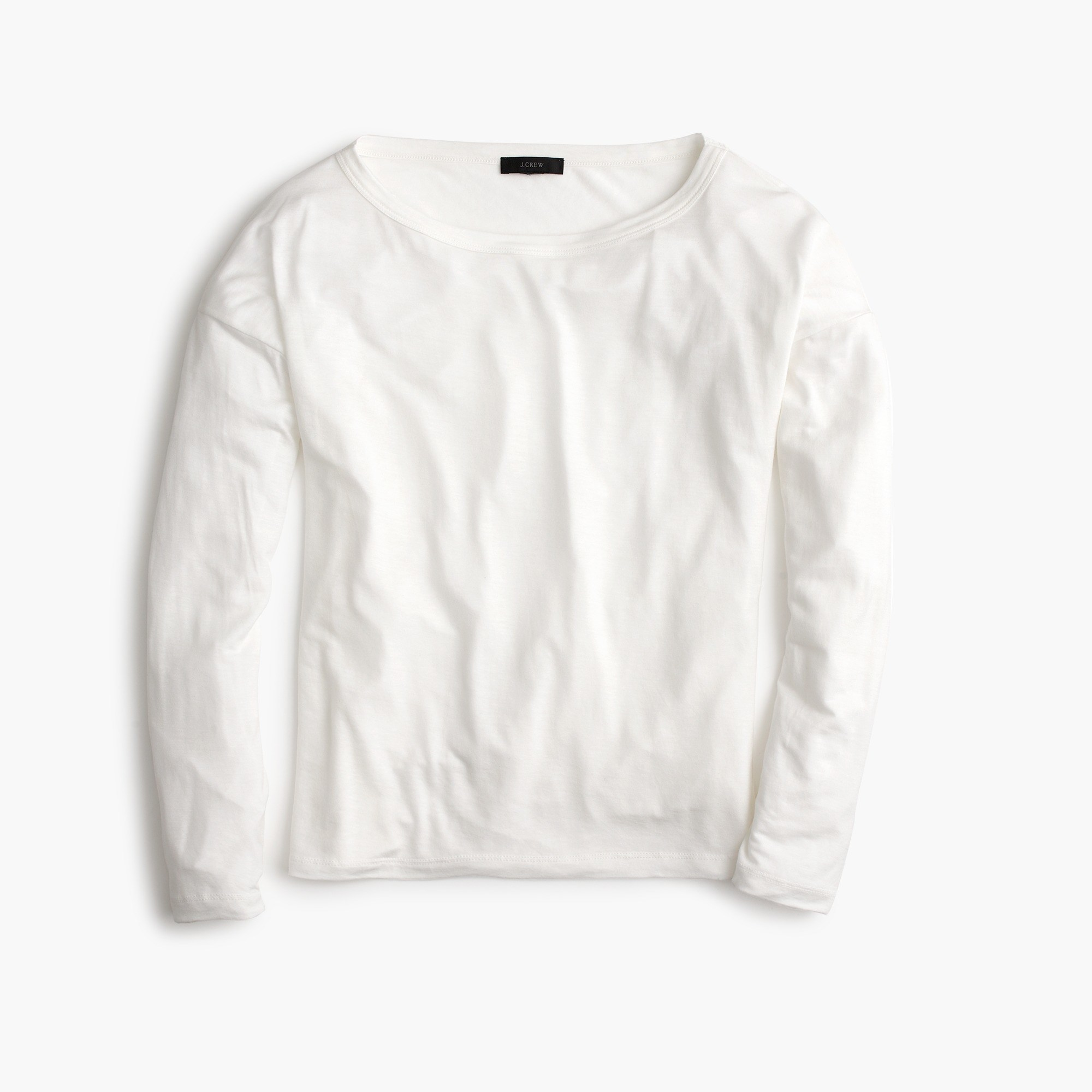 Long-sleeve lyocell T-shirt : Women tee | J.Crew