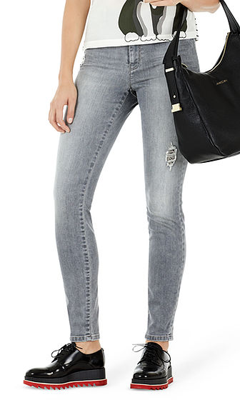 Jeans with distressed effect | marc-cain.com/en