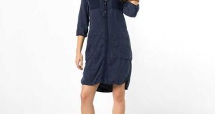 Womens Dresses Womens First-Class Long-Sleeved Shirt-Dress Marc O