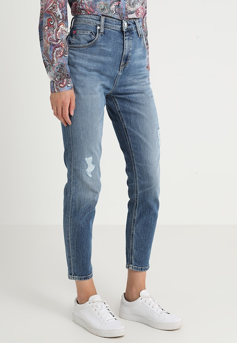 Marc O'Polo DENIM FREJA - Relaxed fit jeans - collage patch wash