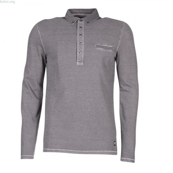 Marc O'Polo LOCAR Grey Clothing long-sleeved polo shirts Men DPmsG62H