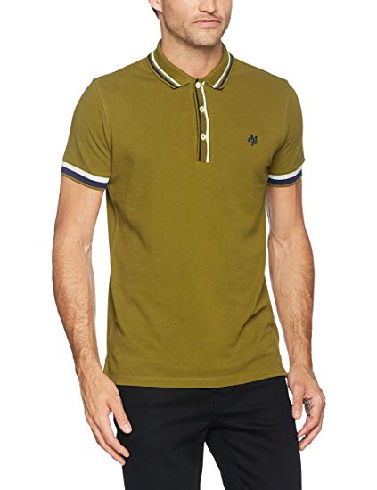 Marc O'Polo Men's 726232556000 Polo Shirt, Green (Pesto 444), L