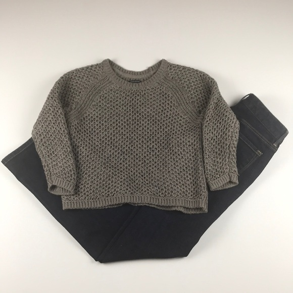 Marc O'Polo Sweaters | Marc Opolo Gray Cropped 34 Sleeve Sweater Xs