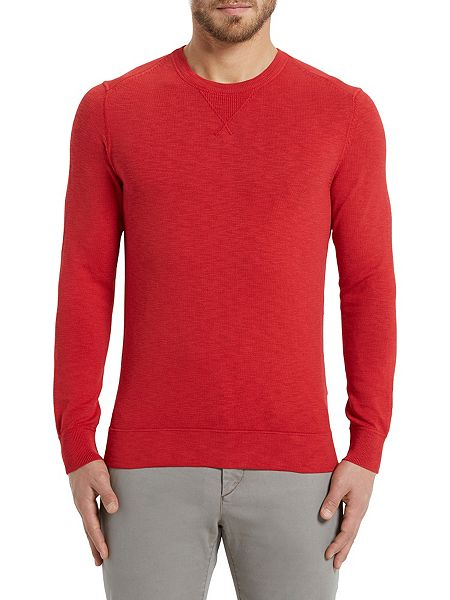 2018 Featured Marc O'polo Sweater Scarlet Men Knitted In Eye-Catching
