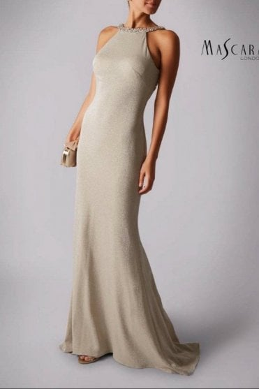 Champagne Mascara Evening Dresses