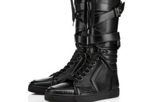 Top Brand Men Boots Red Bottom Sneakers Boot Sporty Dude Flat