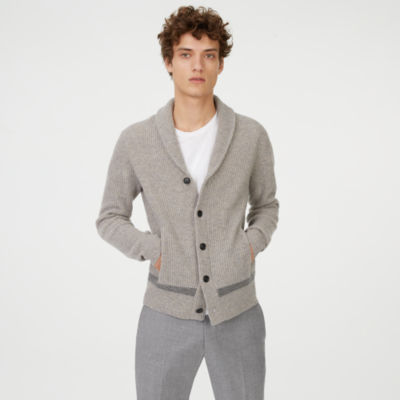 Men | Cardigans | Merino Racked Shawl Cardigan | Club Monaco Canada
