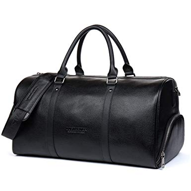 Amazon.com | BOSTANTEN Genuine Leather Travel Weekender Overnight