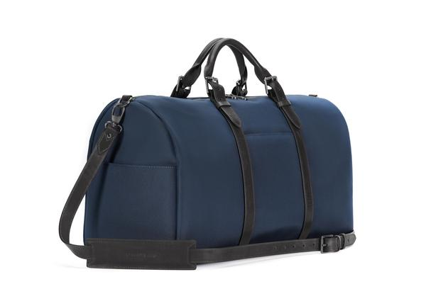Stuart & Lau | The Monaco - Men's Weekender Bag - Navy and Black