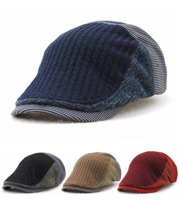 Amazing $7.58 Men Solid Wool Beret mens caps and hats - Stacha Styles
