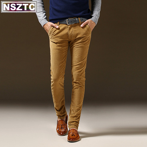 European and American style Famous brand Men Corduroy Pants Fashion