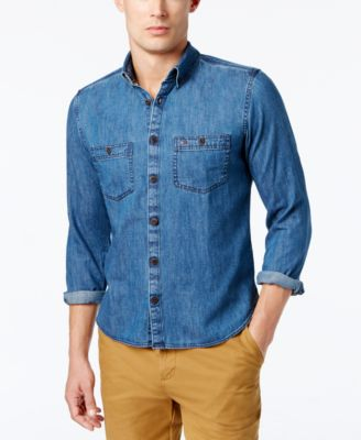Tommy Hilfiger Men's Classic Denim Shirt & Reviews - Casual Button