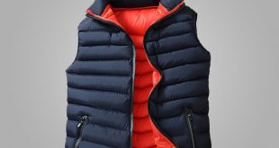 Mens Winter Sleeveless Jacket Men Down Vest Men's Warm Thick Hooded