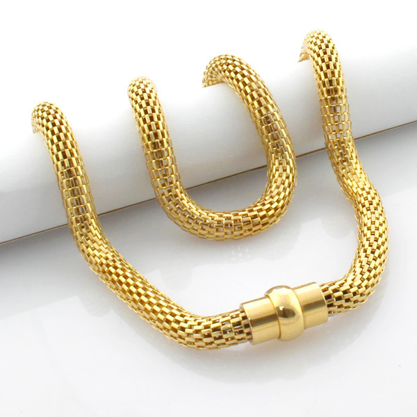 Hot fashion mens jewelry 18K gold plated necklaces chain south