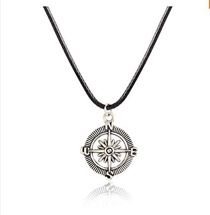 Amazon.com: Men's Necklace - Men's Compass Necklace - Men's Silver