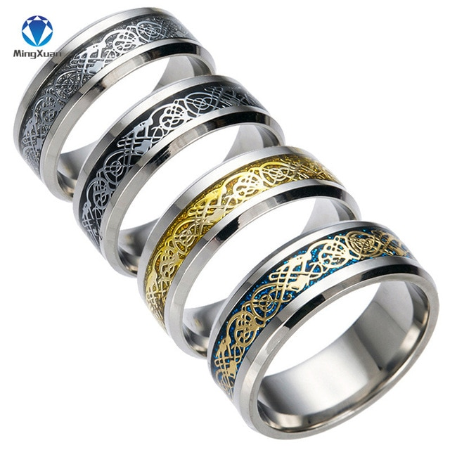 4 COLORS Vintage Gold Free Shipping Dragon 316L stainless steel Ring