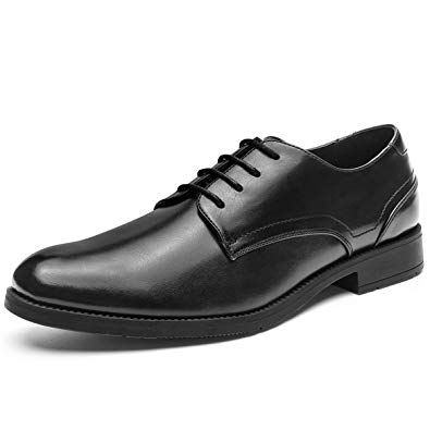 Amazon.com | Men's Dress Shoes Lace-up Plain Toe Formal Oxford Shoes