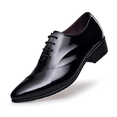 Amazon.com | ZRO Men's Lace Up Formal Modern Oxford Dress Shoes