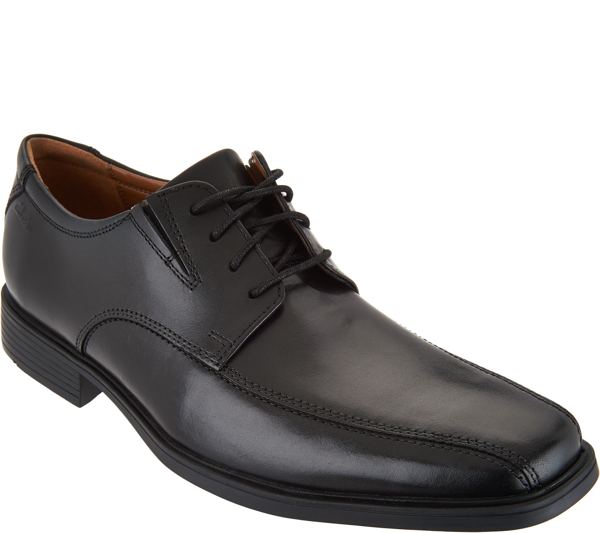 Clarks Men's Leather Lace-up Dress Shoes - Tilden Walk - Page 1