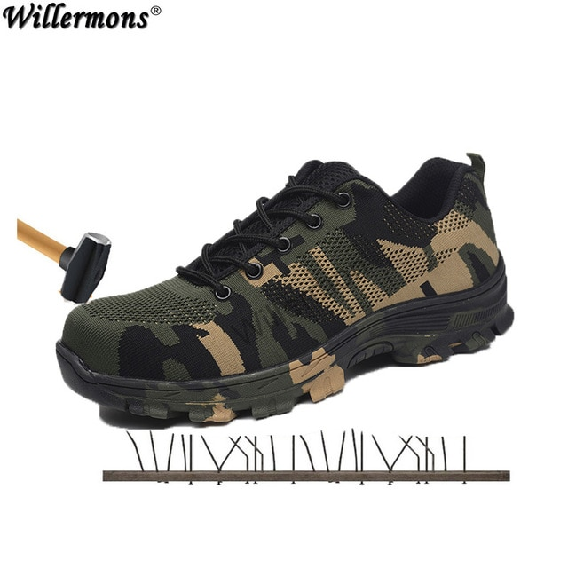 2018 New Men's Plus Size Outdoor Steel Toe Cap Military Work