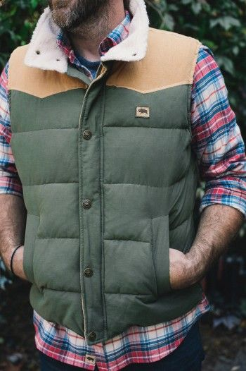 Jackson Men's Outdoor Vest - Pine & Lumber from Buffalo Jackson co