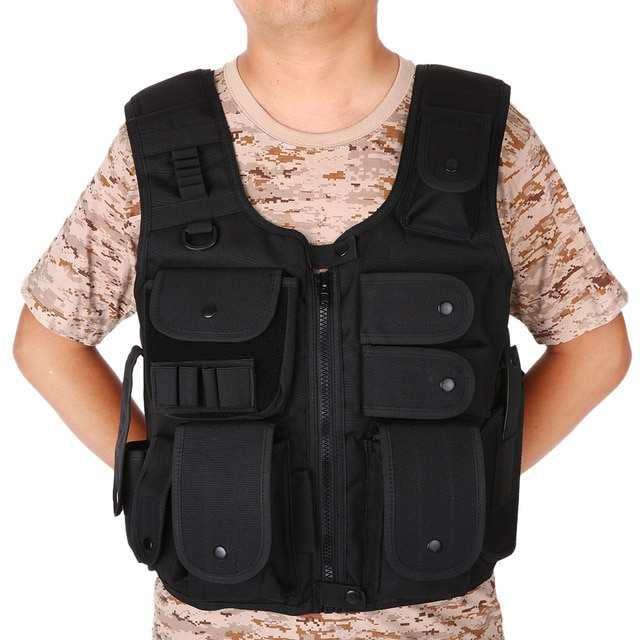 Men's Outdoor Hunting Vest Adjustable Combat Training Vest with
