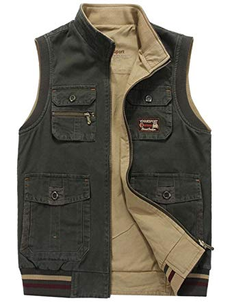 Amazon.com: JEWOSOR Men's Durable Reversible Outdoor Casual Vests