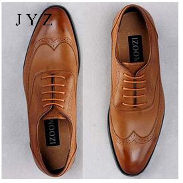 2017 New Fashion Mens Oxfords Vintage Dress Shoes Party Shoe Man