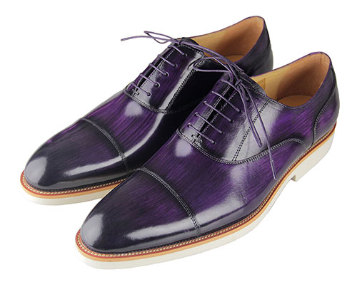 Purple Leather Men's Oxfords