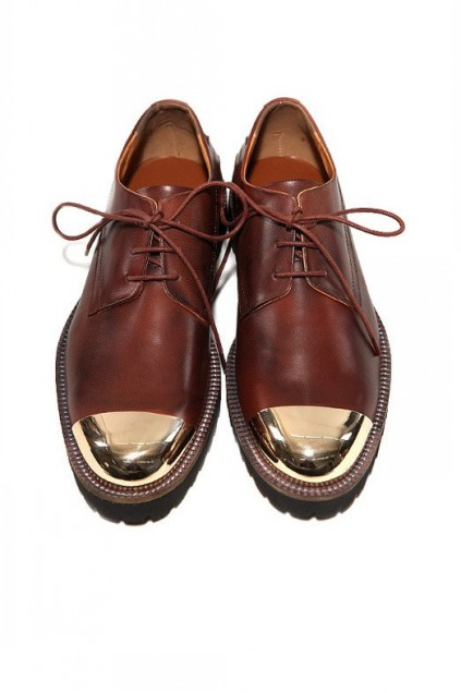 MEN's Corner :: Shoes :: Oxford :: Metal Cap Leather Mens Lace Up