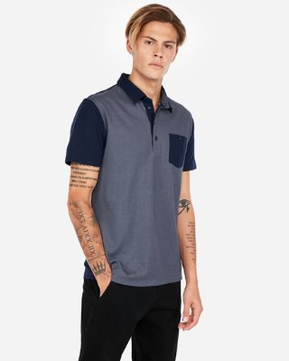Double Faced Performance Polo Shirt | Express