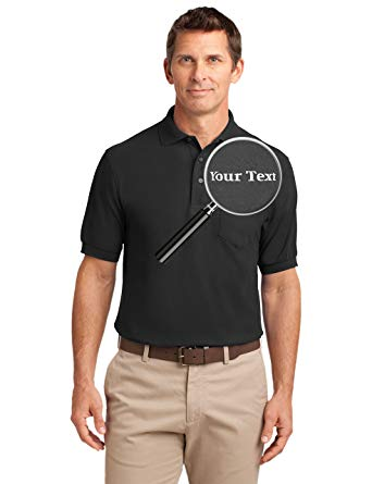 Amazon.com: Custom Embroidered Mens Polo Shirts with Pockets