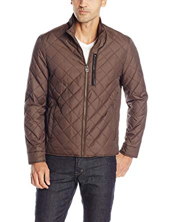 Cole Haan Men's Quilted Jacket with Leather Details at Amazon Men's