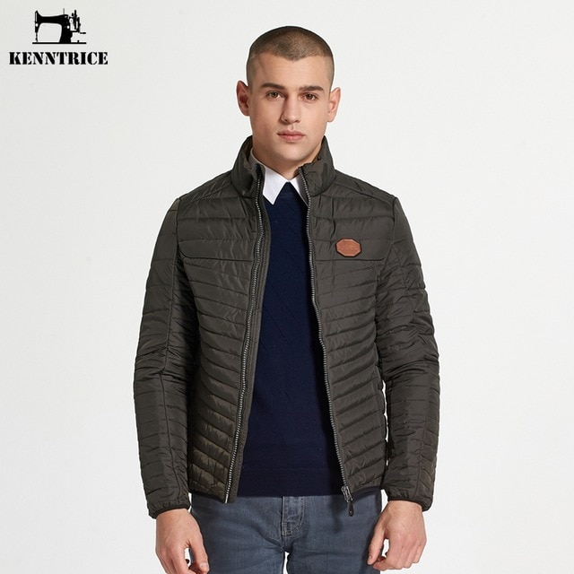 KENNTRICE Jacket Parka Men Nylon Quilted Jacket Men Padded Basic