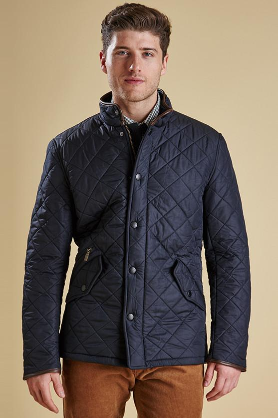 Barbour Powell Mens Navy Quilted Jacket - Smyths Country Sports
